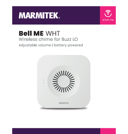 Marmitek Wireless chime for Buzz LO - white - deurbel - 1 stuk