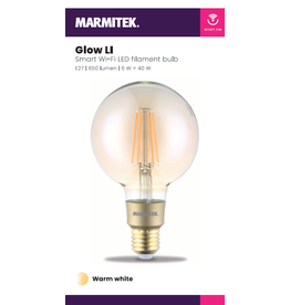 Marmitek Smart Wi-Fi LED filament bulb L - E27 | 650 lumen | 6 W = 40 W - 12x omdoos single