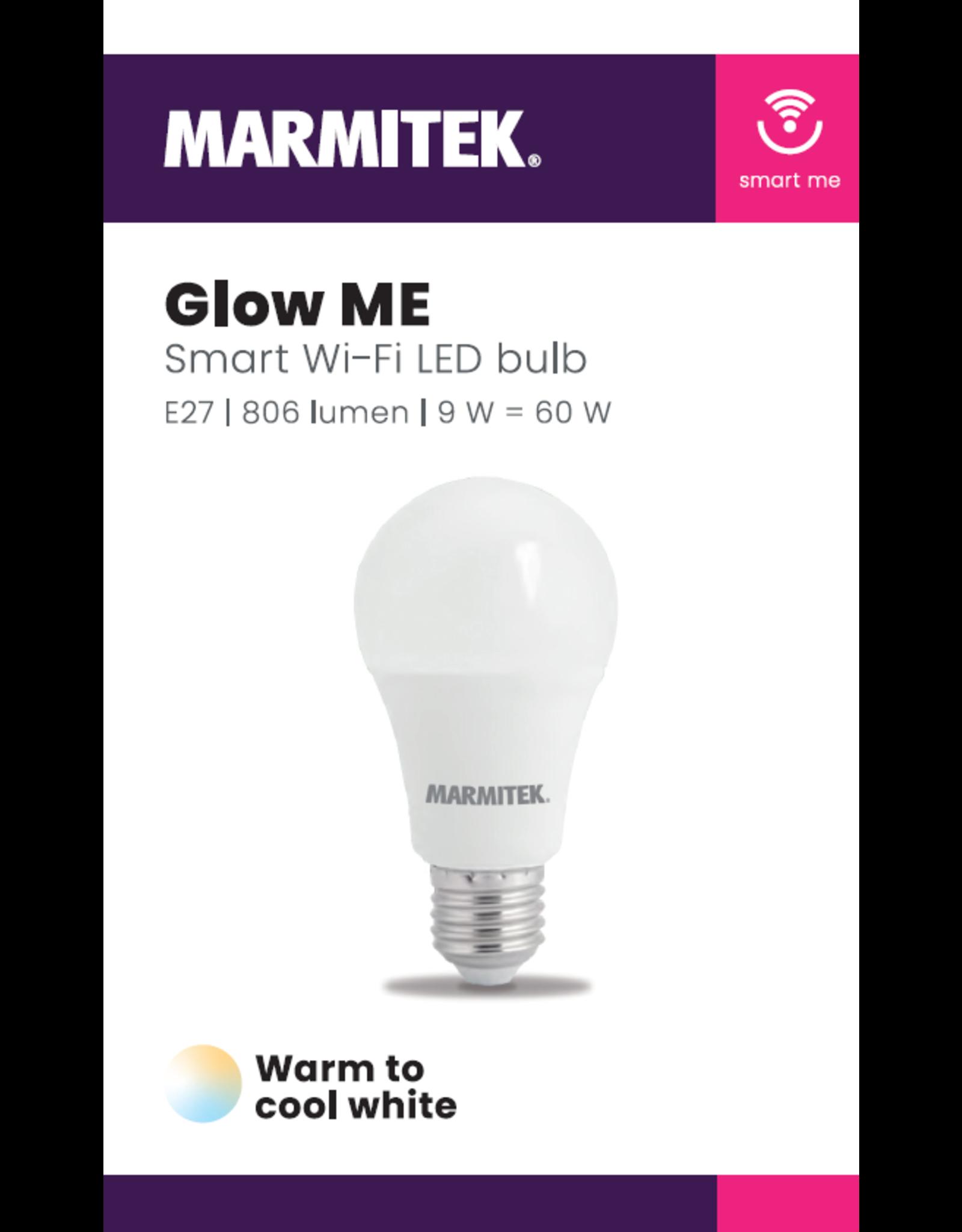 Marmitek Smart Wi-Fi LED bulb - E27   806 lumen   9 W = 60 W - 12x omdoos single
