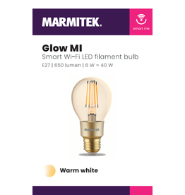 Marmitek Smart Wi-Fi LED filament bulb M - E27 | 650 lumen | 6 W = 40 W - 12x omdoos single
