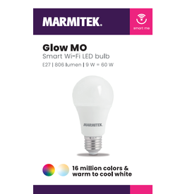 Marmitek Smart Wi-Fi LED bulb color - E27 | 806 lumen | 9 W = 60 W - 12x omdoos single