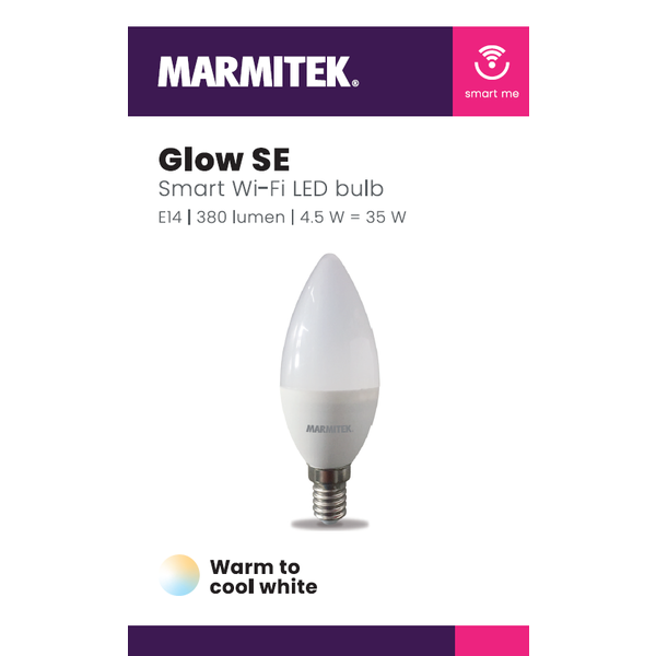 Marmitek Smart Wi-Fi LED bulb - E14   380 lumen   4.5 W = 35 W - 12x omdoos