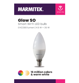Marmitek Smart Wi-Fi LED bulb color - E14 | 380 lumen | 4.5 W = 35 W - 12x omdoos single