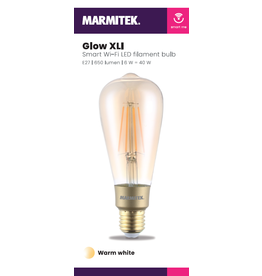Marmitek Smart Wi-Fi LED filament bulb XL - E27 | 650 lumen | 6 W = 40 W - 4x omdoos single