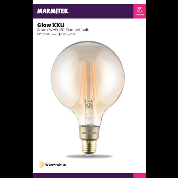 Marmitek Smart Wi-Fi LED filament bulb XXL - E27 | 650 lumen | 6 W = 40 W - omdoos (4 stuks)