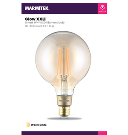 Marmitek Smart Wi-Fi LED filament bulb XXL - E27 | 650 lumen | 6 W = 40 W - 4x omdoos single