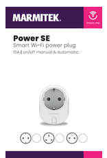 Marmitek Smart Wi-Fi power plug - 15A | on/off manual & automatic | IEC plug type F (DE/NL/ES etc.) - 1 stuk