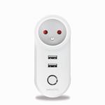 Marmitek Smart Wi-Fi power plug - 15A | 2 USB | on/off manual & automatic | energy meter | IEC plug type E (FR/BE/SK/CZ etc.) - 12x omdoos single