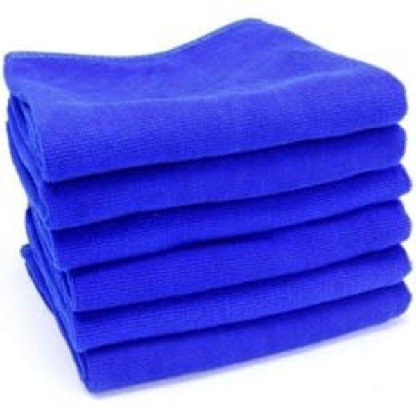 W.A.S.H. W.A.S.H. PREMIUM POETSDOEK  Microvezel Stof Blauw 60x40 cm - 12 pack