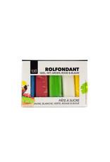 VOILA Home Bakery Voila Pâté a sucre Assortiment Multipack Différentes Couleurs (5x 100 gr.) - 500 grammes paquet