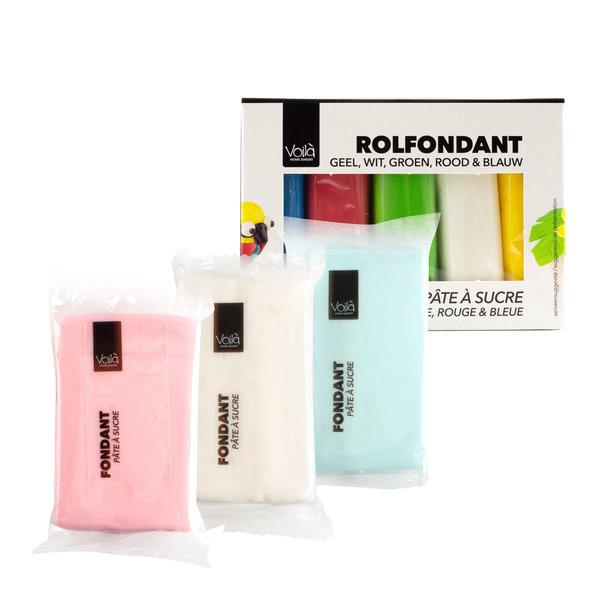 VOILA Home Bakery Voila Rolfondant Assortiment  Multipack Verschillende Kleuren  12x 500 gr. - grootverpakking  (6 kgs)
