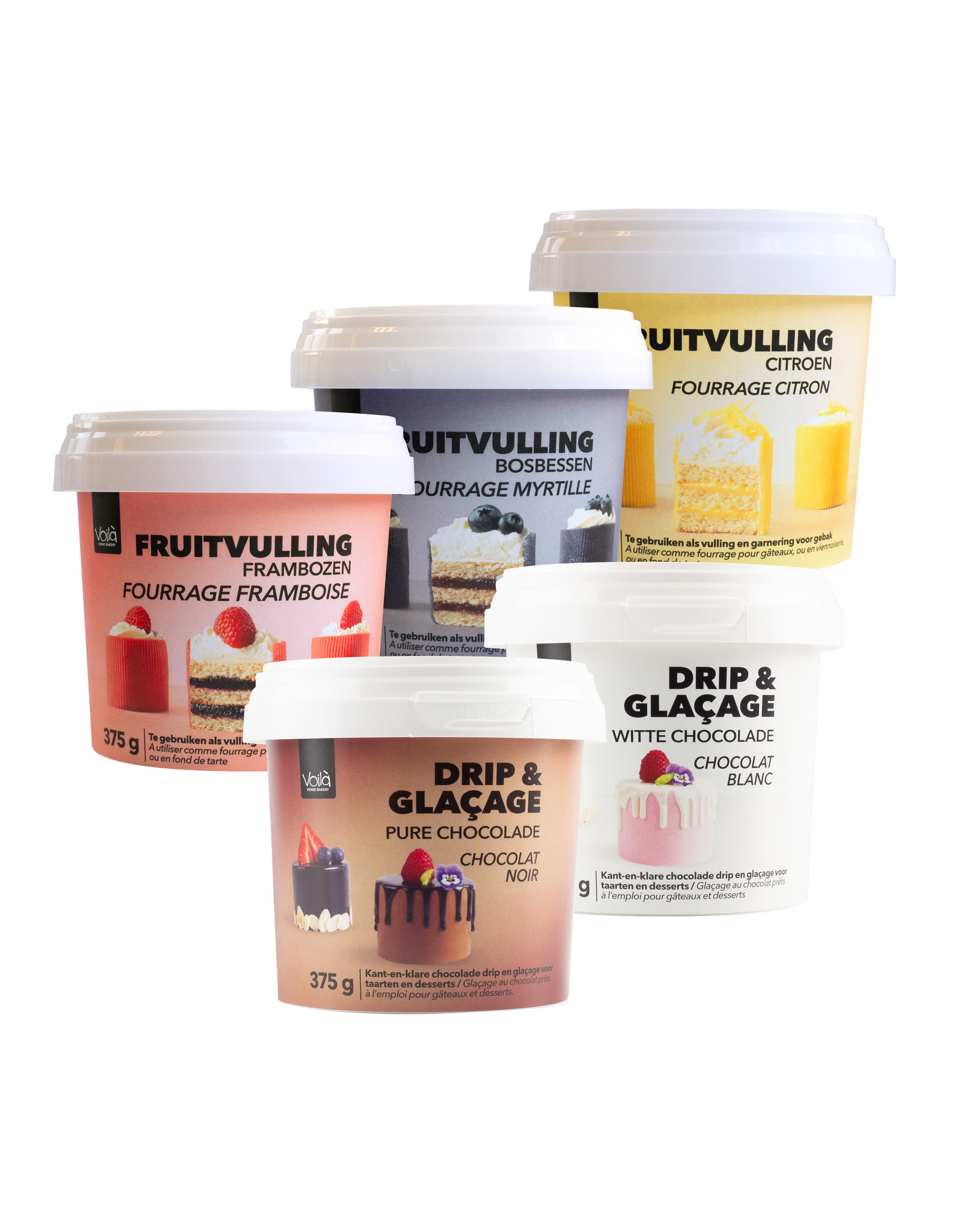 VOILA Home Bakery Voila Drip & Glacage witte chocolade 6x 375 gram omdoos