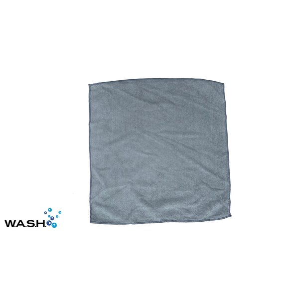 W.A.S.H. W.A.S.H. POETSDOEK Microfiber Stof Grijs 40x40 cm - 12x pakket