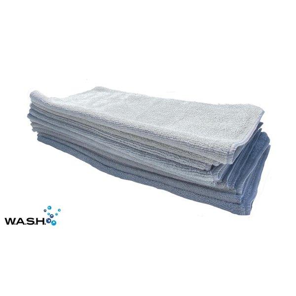 W.A.S.H. W.A.S.H. POETSDOEK Microvezel Stof Grijs 40x40 cm - 12x pakket