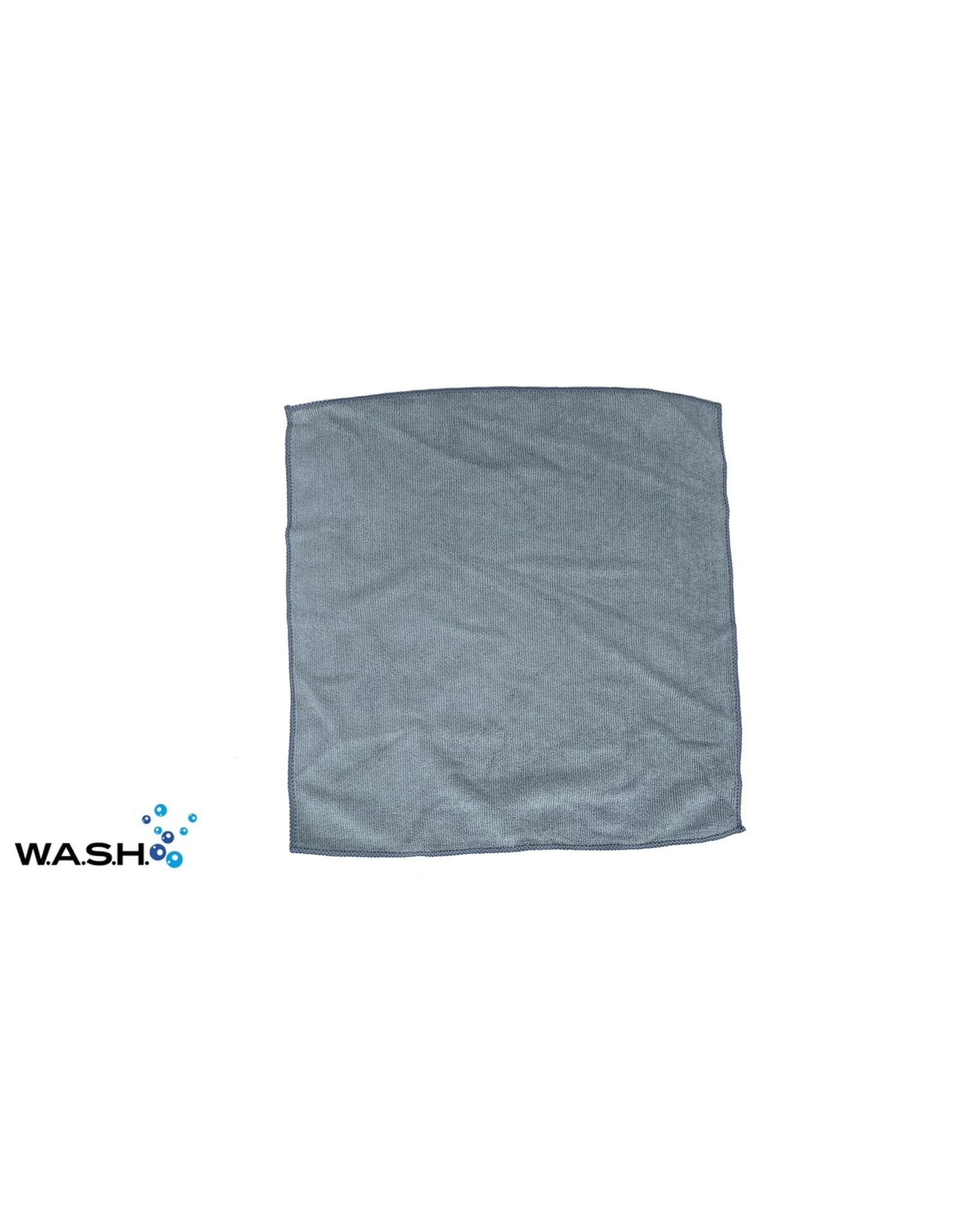 W.A.S.H. W.A.S.H. POETSDOEK Microfiber Stof Grijs 40x40 cm - 1 stuk