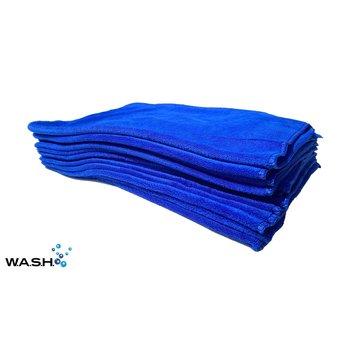 W.A.S.H. W.A.S.H. PREMIUM POETSDOEK  Microfiber Stof Blauw 60x40 cm - 12x  pakket