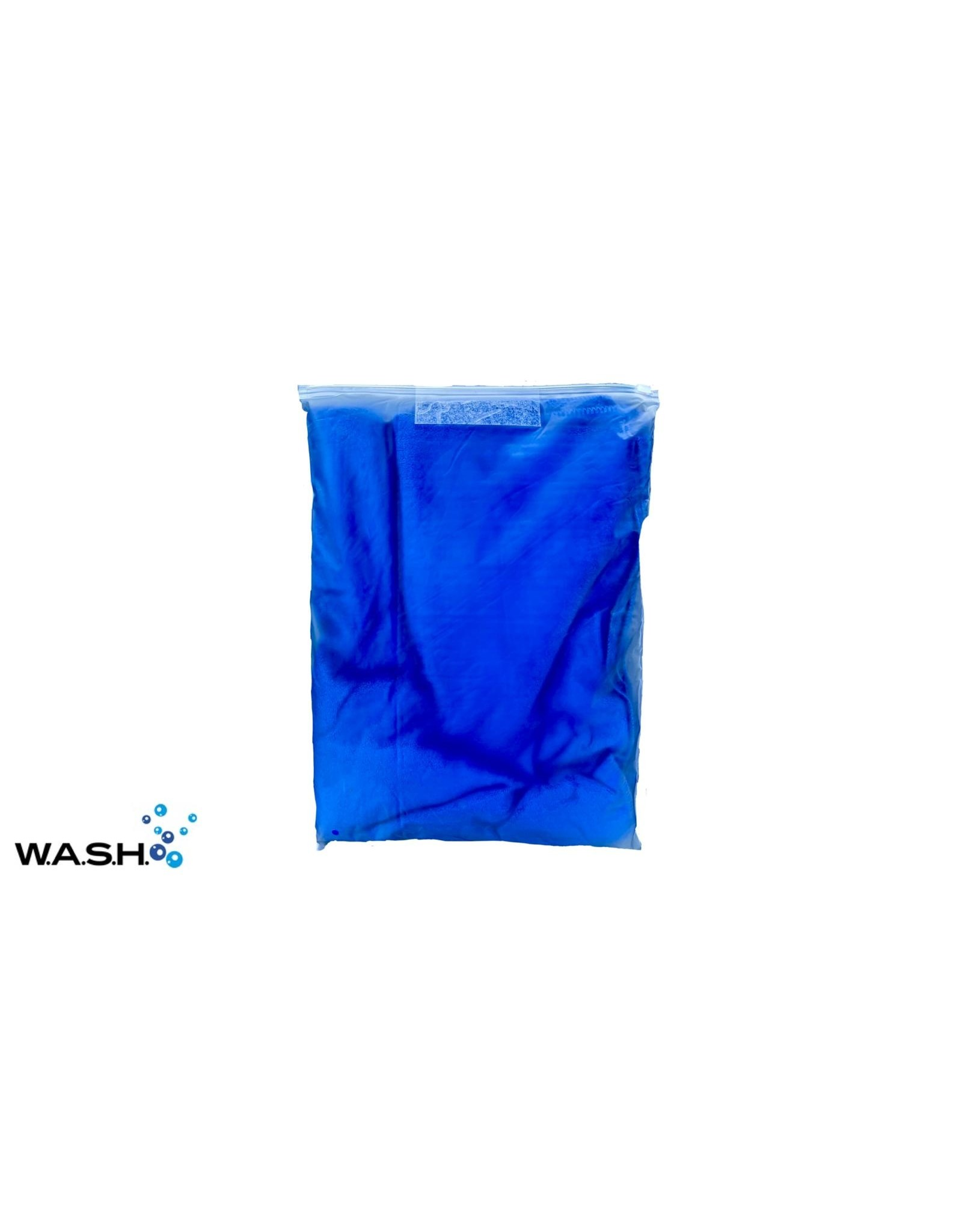 W.A.S.H. W.A.S.H. Microfiber Premium Droogdoek  Blauw - 160x60 cm