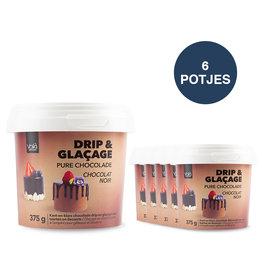 VOILA Home Bakery Voila Drip & Glacage pure chocolade - 6x 375 gram