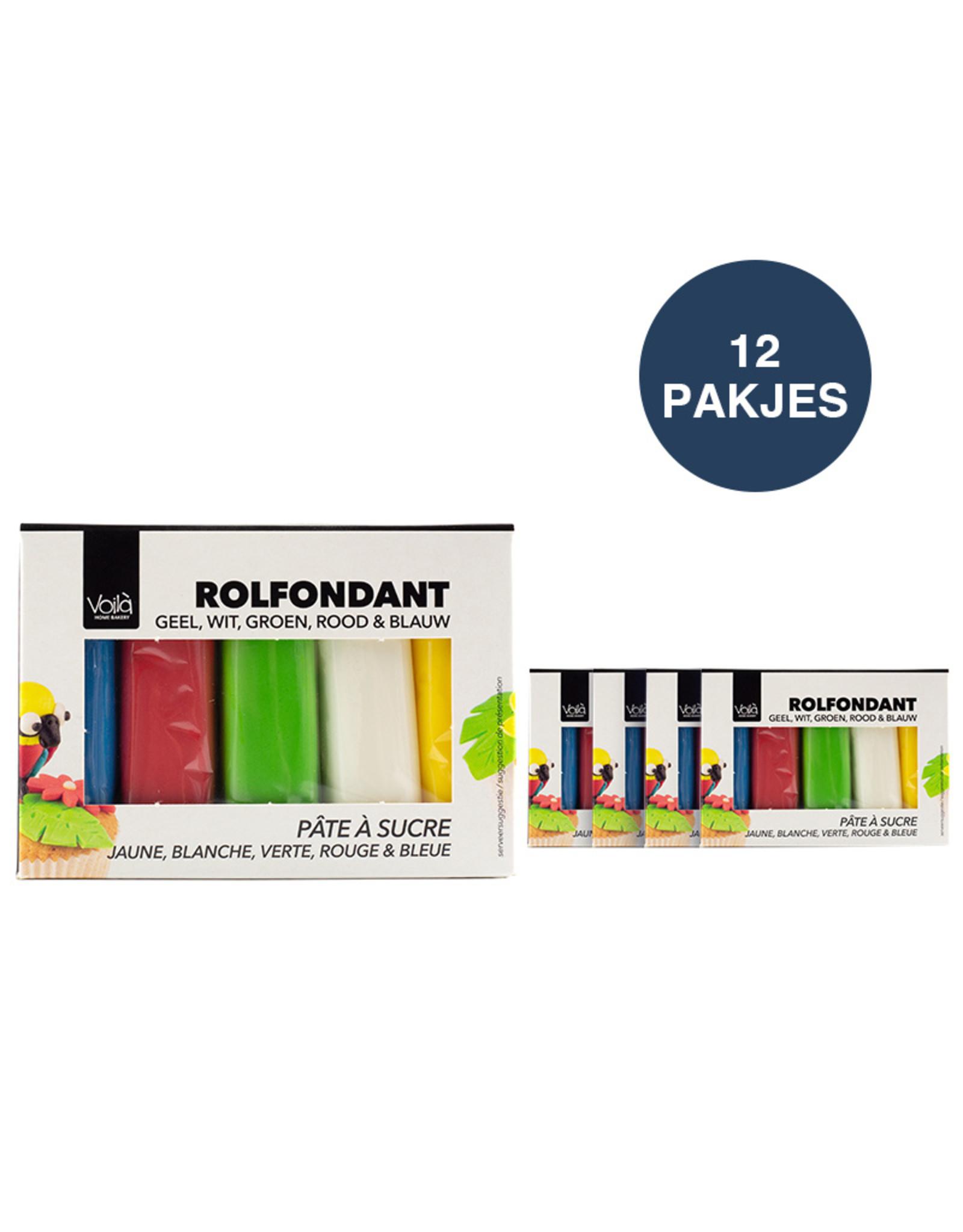 VOILA Home Bakery Voila Fondant Assortment Multipack Different Colors 12x 500 gr.- master carton (6 kgs)