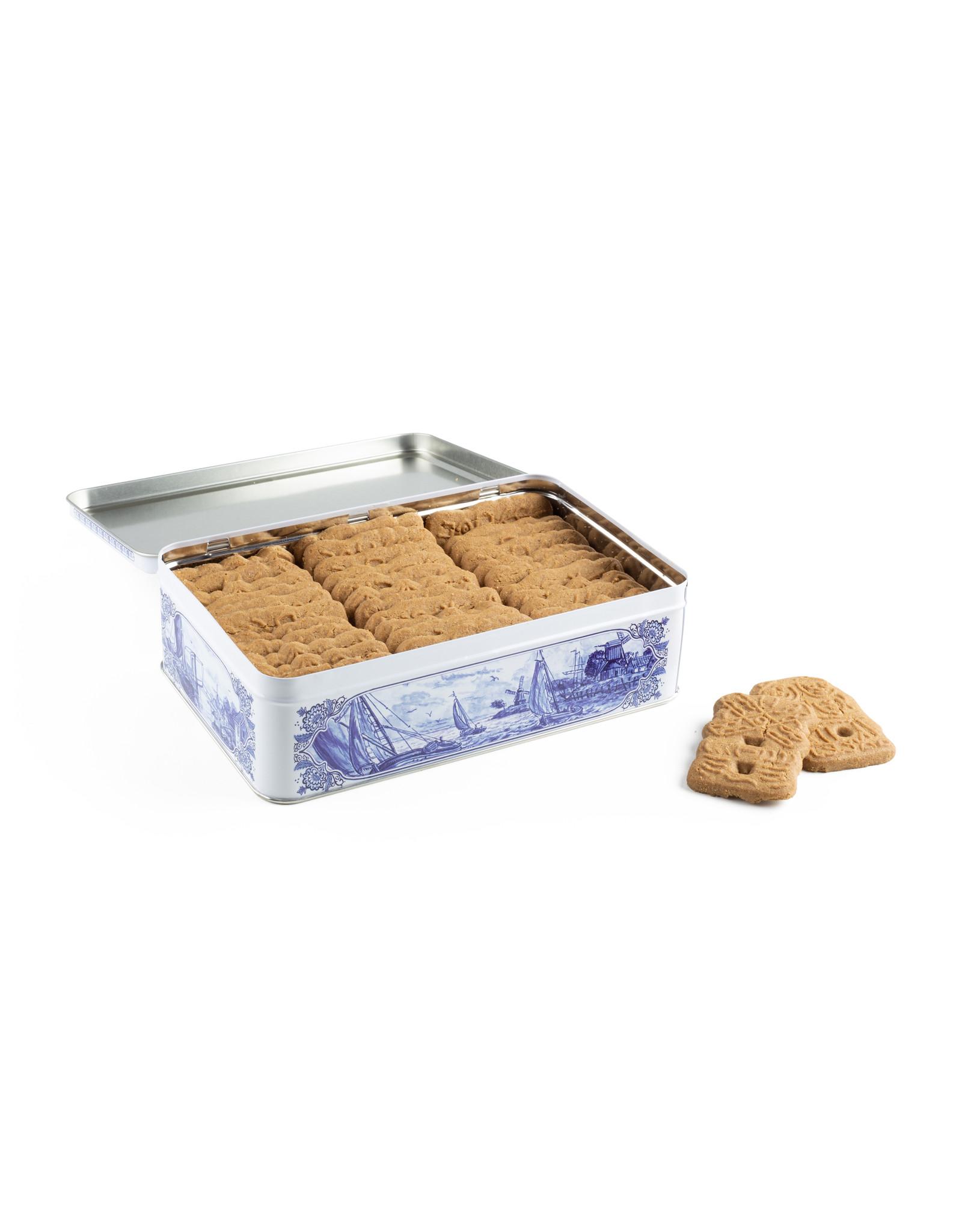 Hellema Hellema Bisquit épicé dans une boîte bleue de delft - 415 gramme