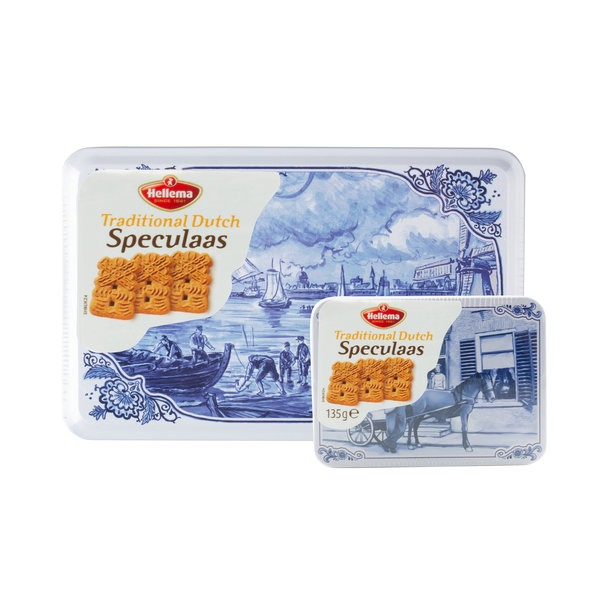 Hellema Hellema Spiced Cookies in Delft blue can - 415 gram