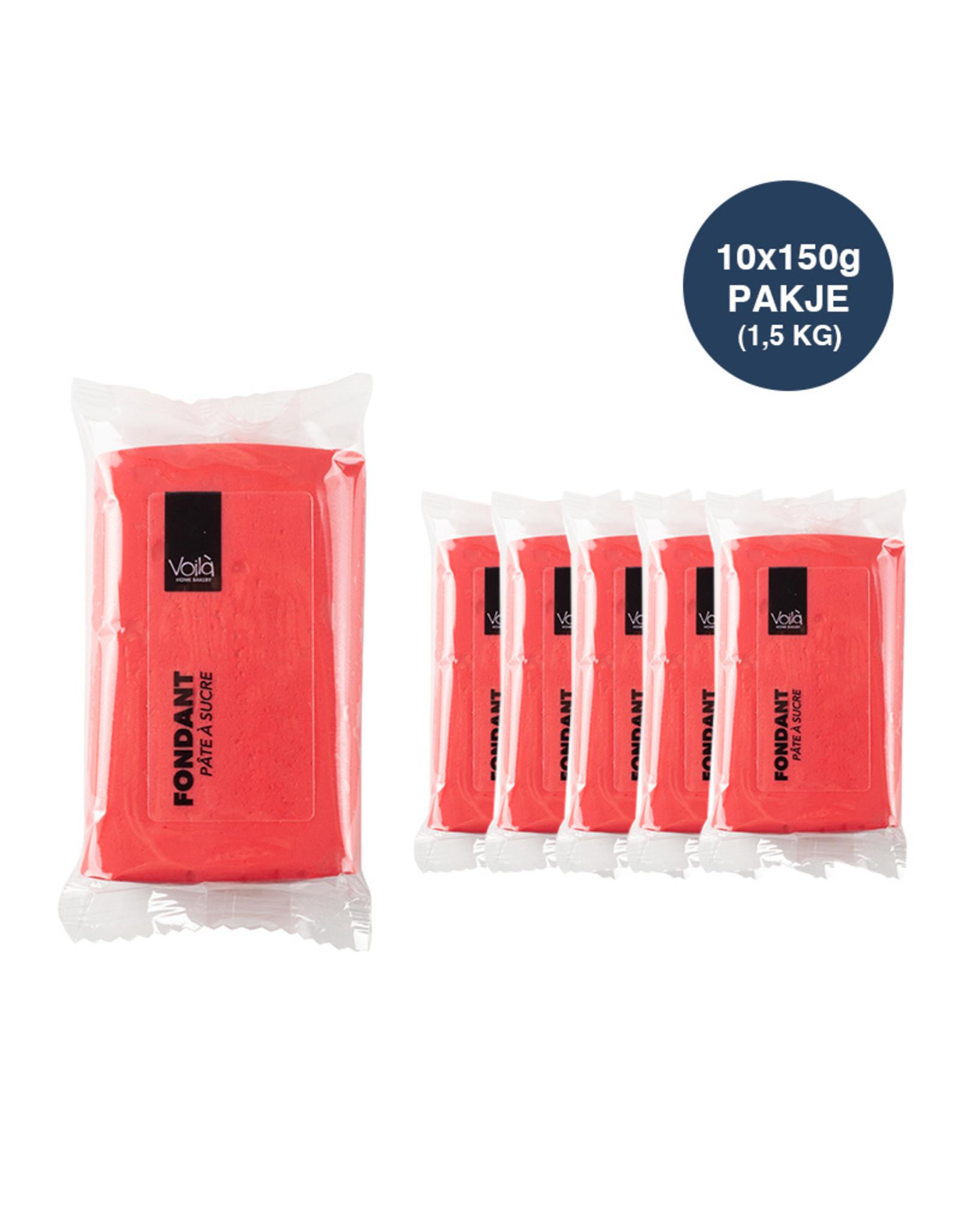 VOILA Home Bakery Voila Rolfondant rood - 10x 150 gram - grootverpakking (1,5 kgs)
