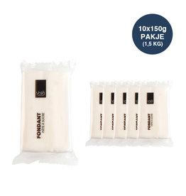 VOILA Home Bakery Voila Fondant white - 10x 150 grams block - master carton (1,5 kgs)