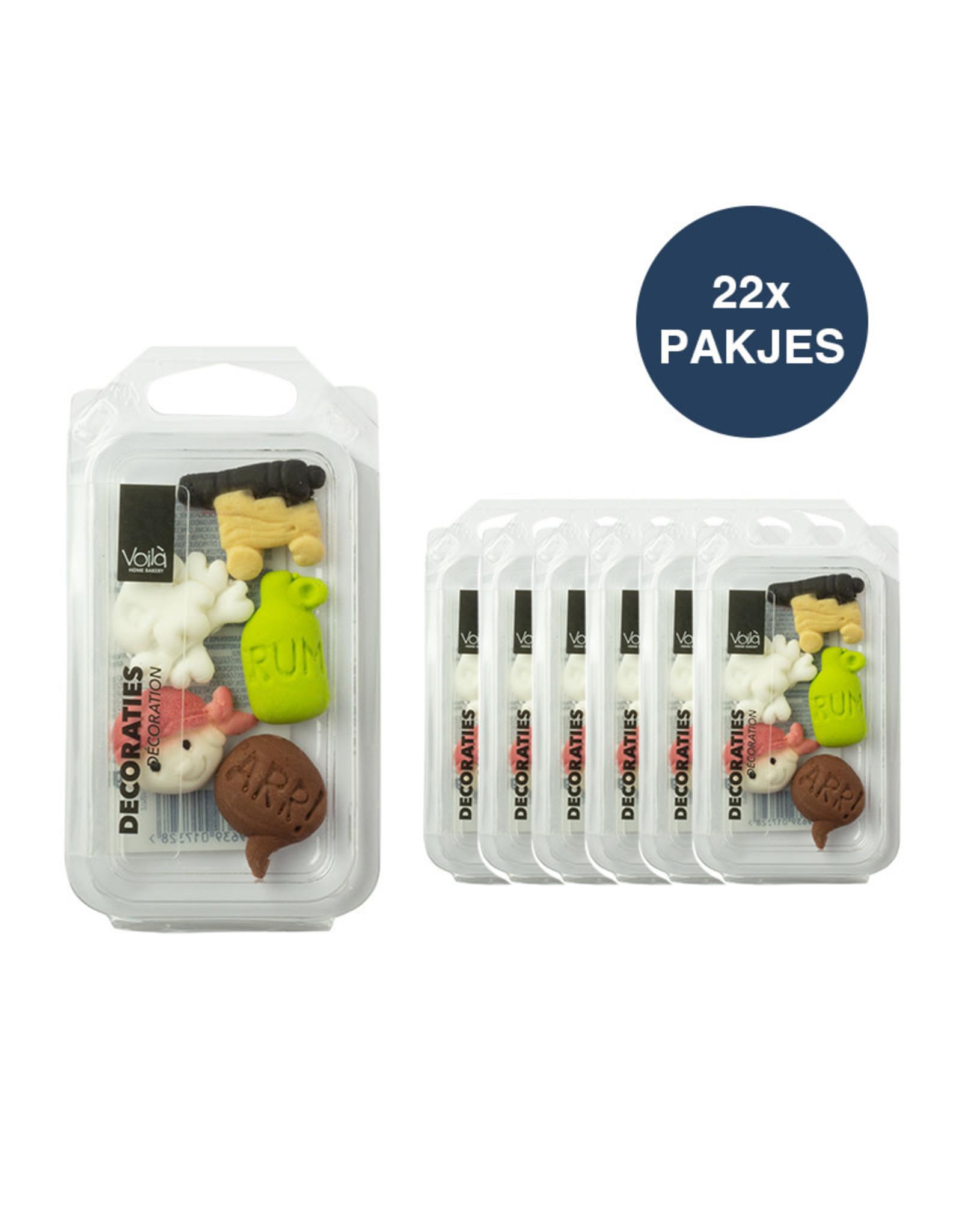 VOILA Home Bakery Voila Suikerdecoratie Piraten - 22x 14 gram
