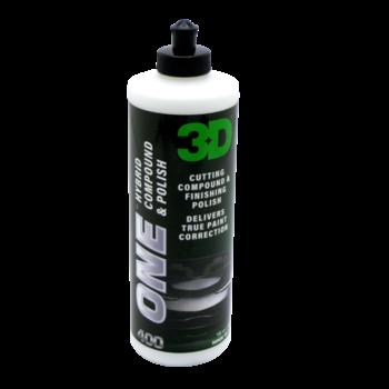 3D PRODUCTS 3D ONE Hybrid - Compound & Polish 400 - 32oz/946 ml fles