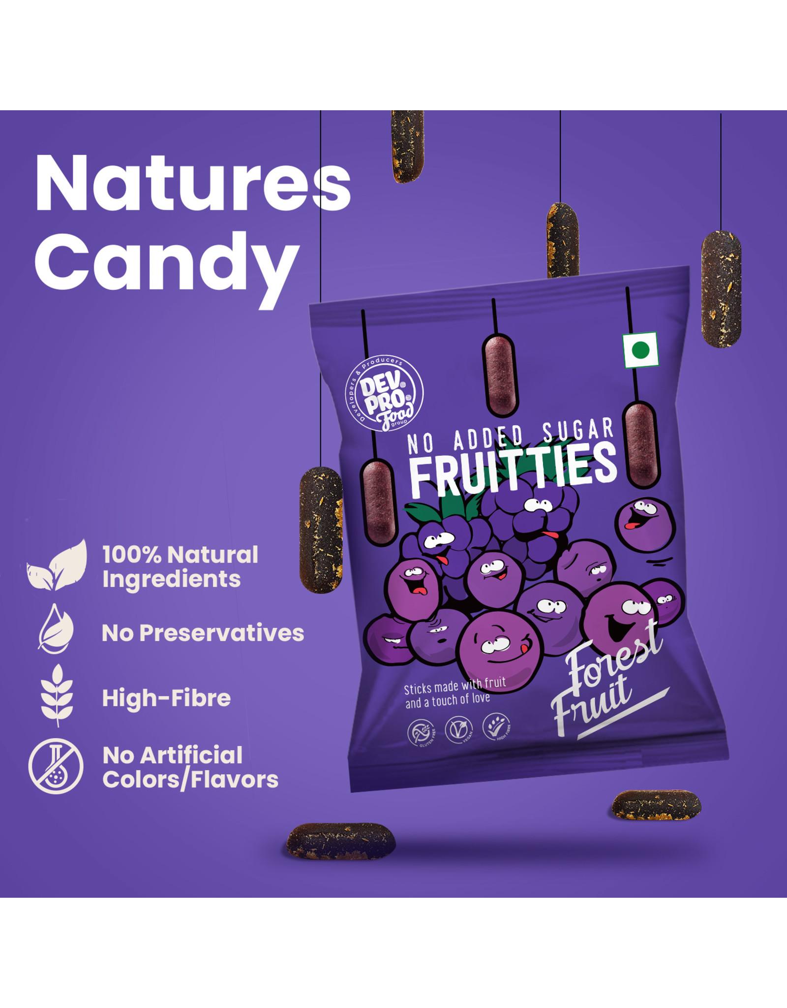 DEV. PRO. Dev. Pro. Fruitties - Bosvruchten - 35 gram zakje
