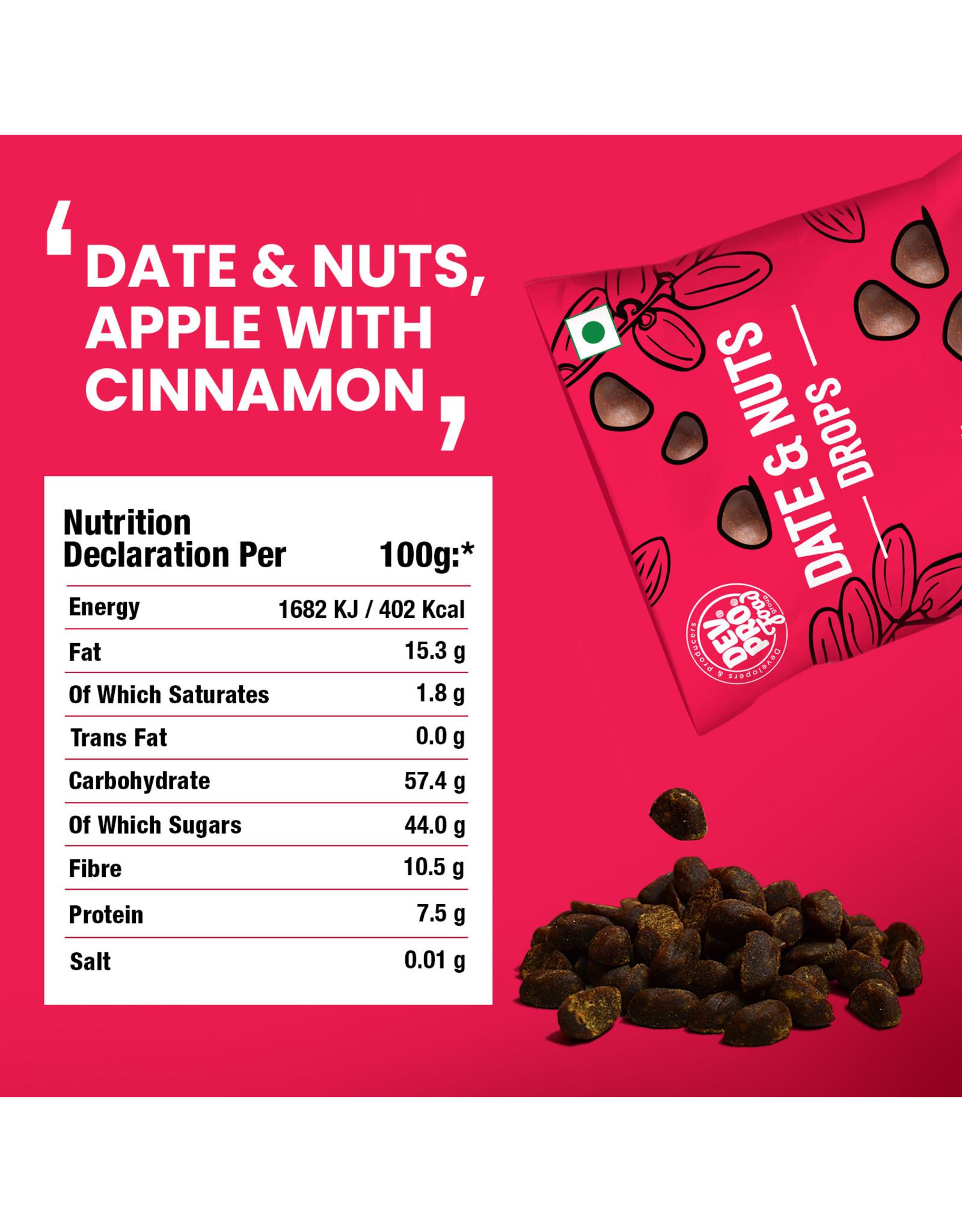 DEV. PRO. Dev. Pro. Date & Nuts Drops - Appel Kaneel - 40 gram zakje