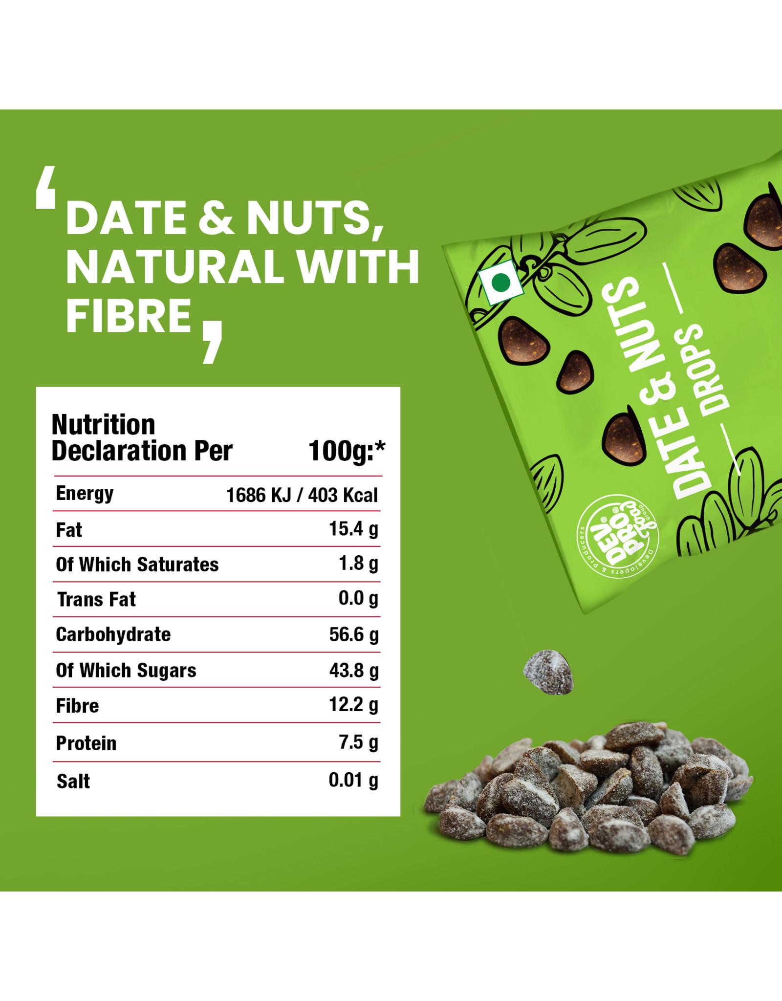 DEV. PRO. Dev. Pro. Date & Nuts Drops -Naturel - 40 gram zakje