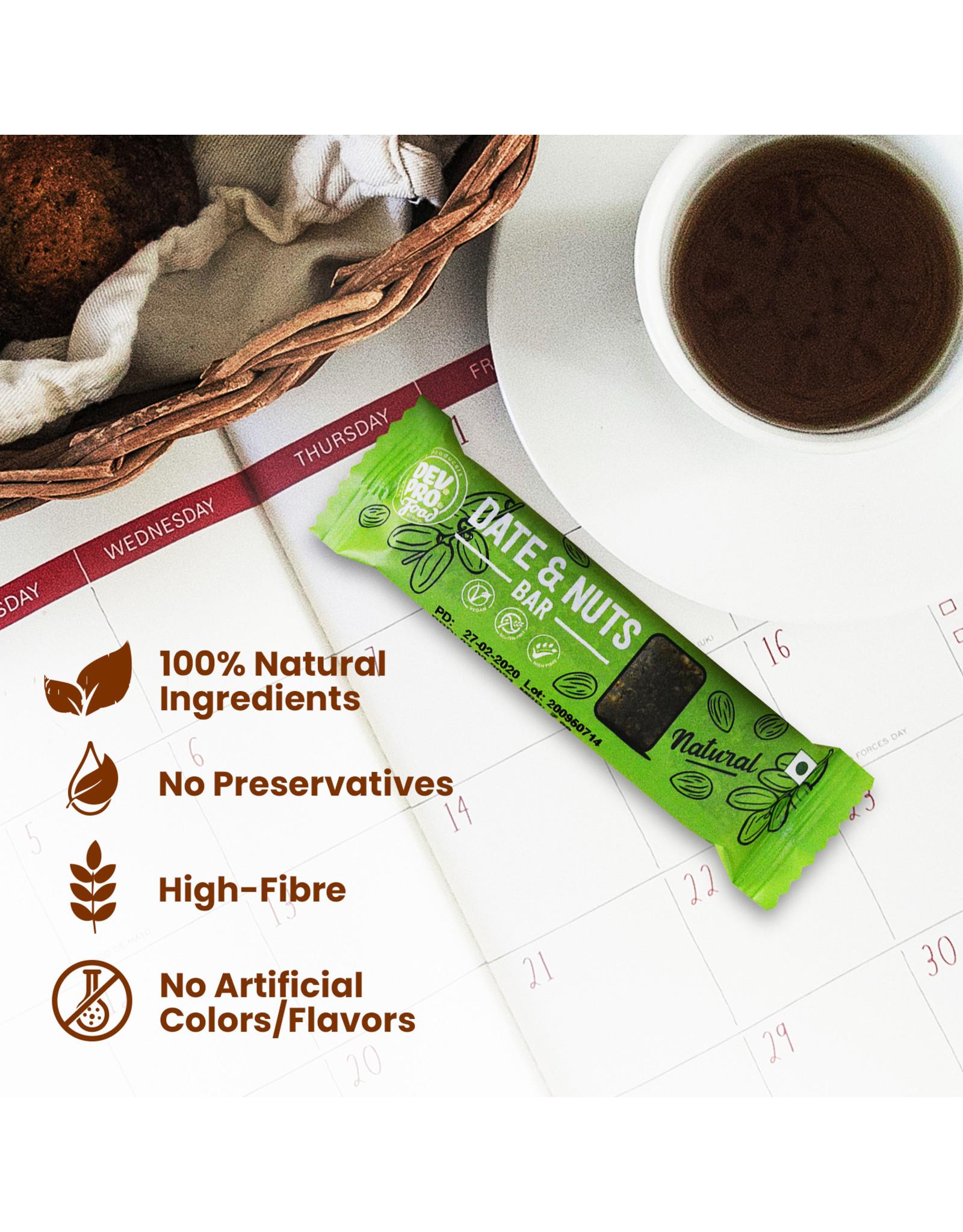 DEV. PRO. Dev. Pro. Date & Nuts Bar - Naturel - 30 gram reep