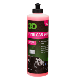 3D PRODUCTS 3D Pink Car Soap - 16 oz / 473 ml Flacon
