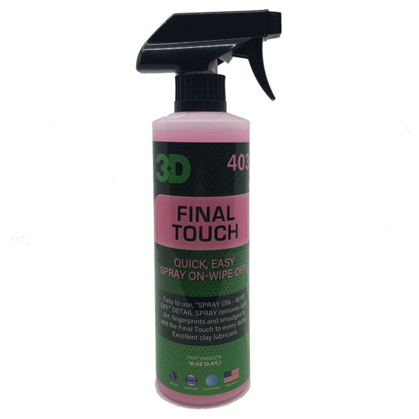 3D PRODUCTS 3D Final Touch - 16 oz / 473 ml Spray Fles