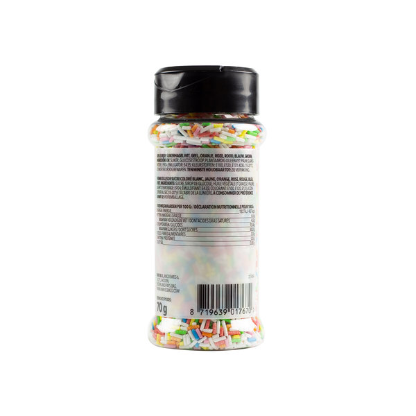 VOILA Home Bakery Voila Home Bakery Gekleurde Suikerhageltjes regenboog - 70 gram strooipotje