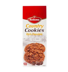 Hellema HELLEMA COUNTRY Cookies Chocolat riche - 150 grammes paquet