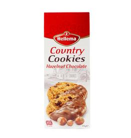 Hellema HELLEMA COUNTRY Cookies Hazelnoot chocolade - 175 gram doos