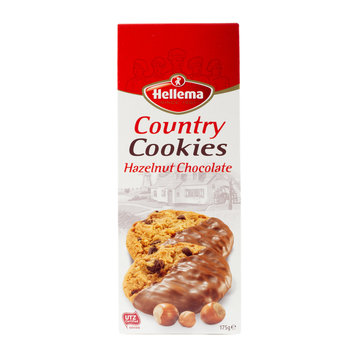 Hellema HELLEMA COUNTRY Cookies Chocolat aux noisettes - 175 grammes paquet