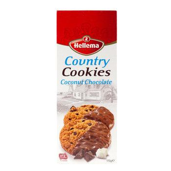 Hellema HELLEMA COUNTRY Cookies Chocolat à la noix de coco - 175 grammes paquet