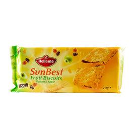 Hellema HELLEMA SunBest Fruit Biscuits RAISINS & APPLE - 218 grams pack