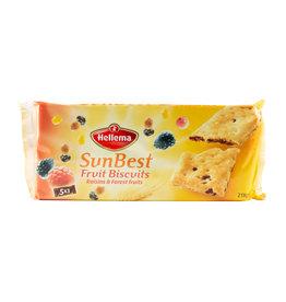 Hellema HELLEMA SunBest Biscuit aux Fruits RAISINS ET FRUITS DES FORÊTS - 218 grammes paquet