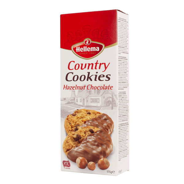 Hellema HELLEMA COUNTRY Cookies Hazelnut chocolate - 175 grams pack