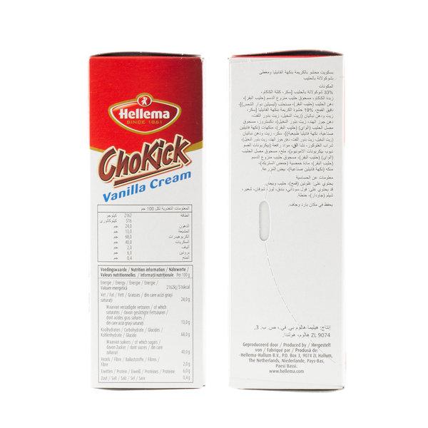 Hellema HELLEMA ChoKick Vanilla Cream Koekjes - 12x 180 gram - grootverpakking