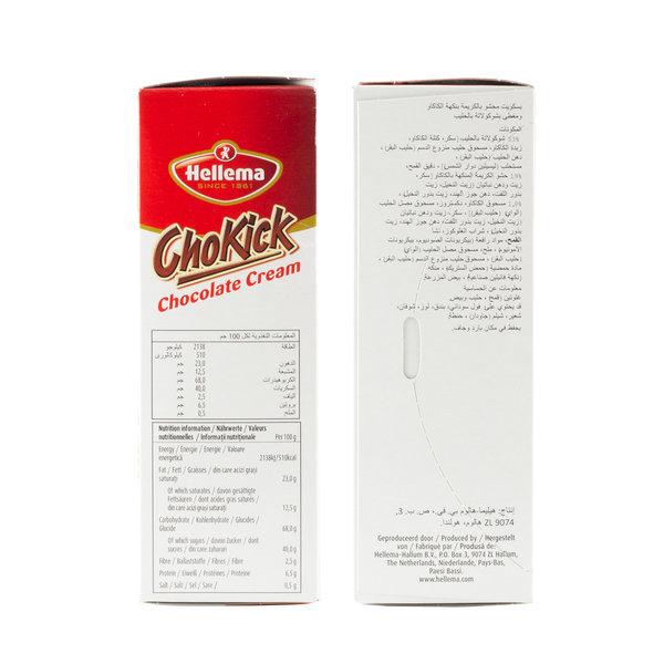 Hellema HELLEMA ChoKick Chocolate Cream Koekjes - 12x 180 gram - grootverpakking