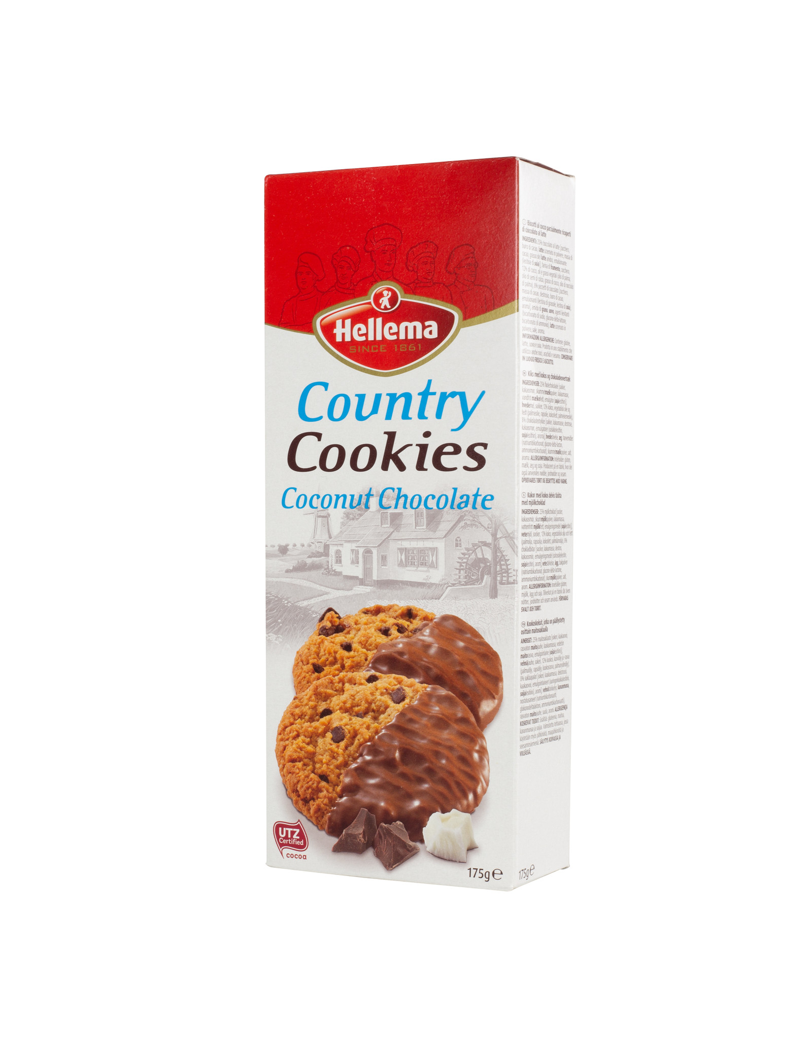 Hellema HELLEMA COUNTRY Cookies Coconut chocolate - 12x 175 grams - master carton