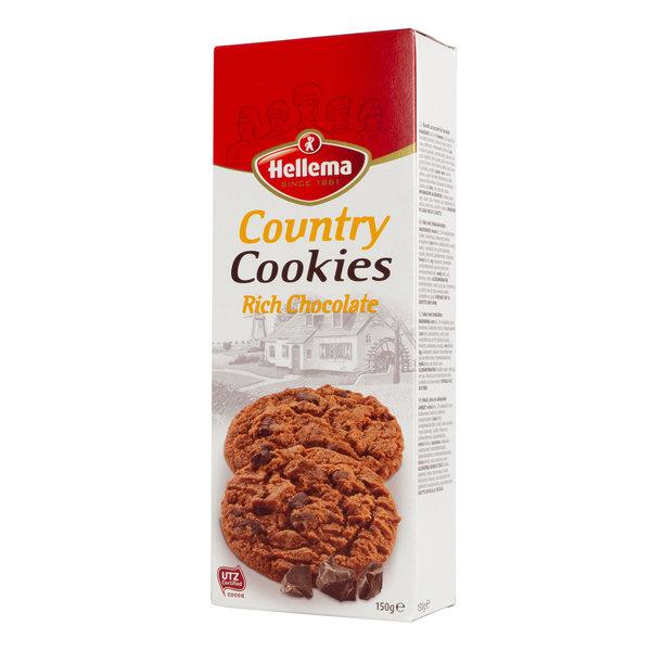 Hellema HELLEMA COUNTRY Cookies Chocolat riche - 12x 150 grammes - carton principal