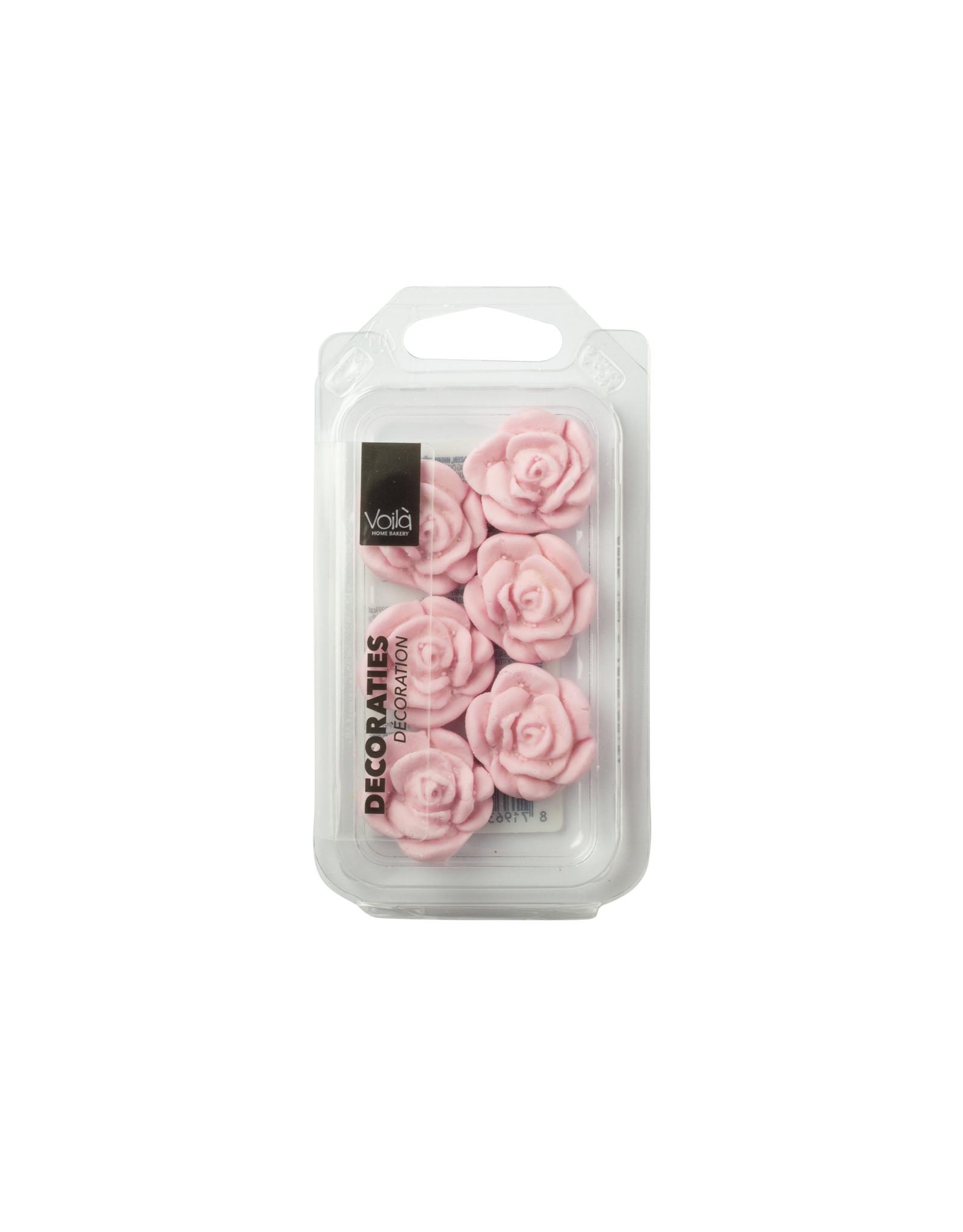 VOILA Home Bakery Voila Suikerdecoratie Roze Rozen - 22x 18 gram