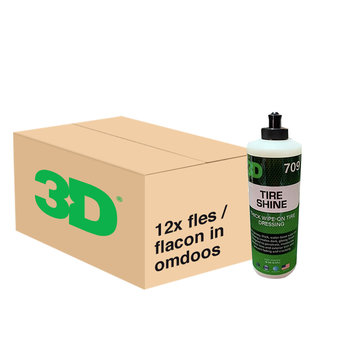 3D PRODUCTS 3D Tire Shine - 16 oz / 473 ml - 12x Flacon - grootverpakking
