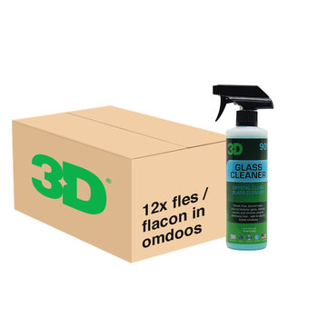 3D PRODUCTS 3D Glass Cleaner - 16 oz / 473 ml - 12x Spray Fles - grootverpakking